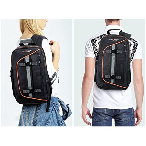 b55194a38a good K F Concept Professional Camera Sling Backpack with Rain Cover and  Padded Crossbody Strap for Canon