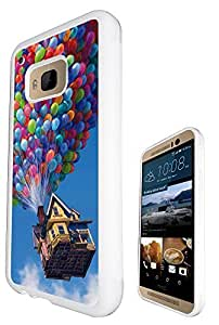 Funky UP Flying house Balloons Design htc one M9 Fashion Trend Case Back Cover Gel Silicone Rubber by ruishername