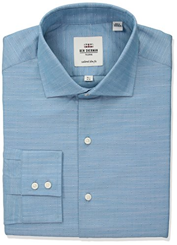 Ben-Sherman-Mens-Diamond-Slub-Royal-Spread-Slim-Fit-Dress-Shirt