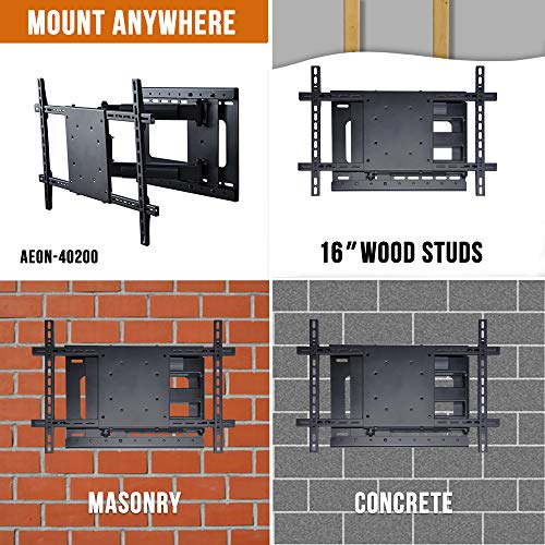 Aeon Stands and Mounts 40200 full motion TV wall mount with 28'' Extension (Black) by Aeon Stands and Mounts (Image #7)