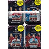 2018 2019 Topps UEFA Champions League Match Attax Card Game MEGA Collectors Tin with 60 Cards including a Limited Edition SUPER SQUAD Card and 15 EXCLUSIVE Insert Cards