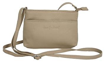 72dd880eed6d97 Kleine Abendtasche für Frauen aus Leder/Damen crossover Schultertasche  beige Umhängetasche Crossbody Bag (6224