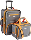 Best Carry On Luggage 22x14x9s - Rockland Luggage 2 Piece Set, Charcoal, One Size Review