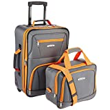 ROCKLAND Luggage 2-Piece Set, Charcoal, One Size