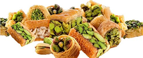 P110 - Baklava Sweets Assorted (105-110 Pcs, 10 Varieties) (36 Oz Net, 3 lbs Gross) (Oglu) - Cookies Pastry Assortment in Very Classy Gift Box (Baklava Mix Box, P110) by Turkish Delight (Image #3)