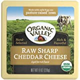 Organic Valley Organic Raw Sharp Cheddar Cheese, 8 Ounce -- 12 per case.