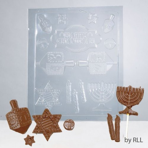 1 X Hanukkah Themed Chocolate Mold (Hanukkah Lollipop)