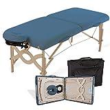 EARTHLITE Portable Massage Table Package AVALON - Reiki Endplate, Premium Flex-Rest Face Cradle & Strata Cushion, Carry Case (30