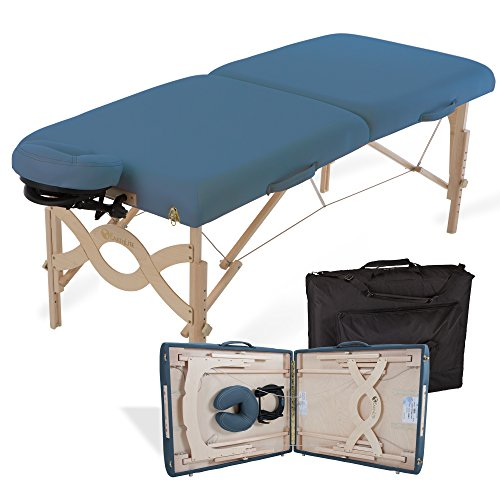EARTHLITE Portable Massage Table Package AVALON - Reiki Endplate, Premium Flex-Rest Face Cradle & Strata Cushion, Carry Case (30