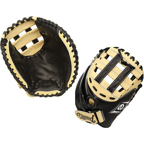 Diamond Fast Pitch Cather's Mitt-Righty for Right Handed Thrower, Black/Cream by Diamond Sports