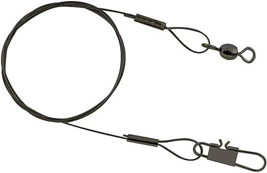 Spro Matt Black LEADER 7x7 Wire 22LB 40cm 2 Stück 10kg Stahlvorfächer Super Soft