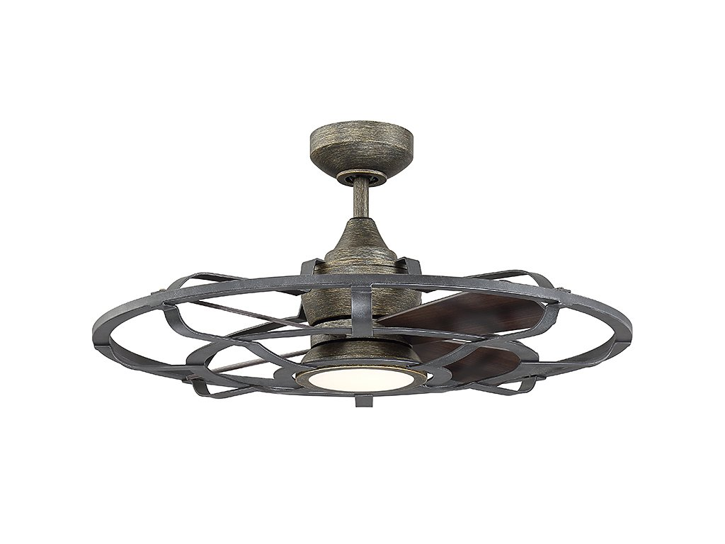 Savoy House 22-9547-FD-196 Alsace II 26'' Outdoor Ceiling Fan with LED Light and Remote, Reclaimed Wood