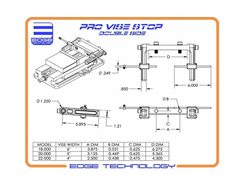 Edge Technology Pro Vise Stop Double Side 6'' by Edge Technology (Image #6)