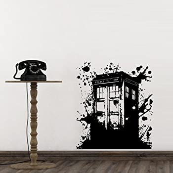 Amazoncom Wall Decal Doctor Who Tardis Mural Sticker Decor Art