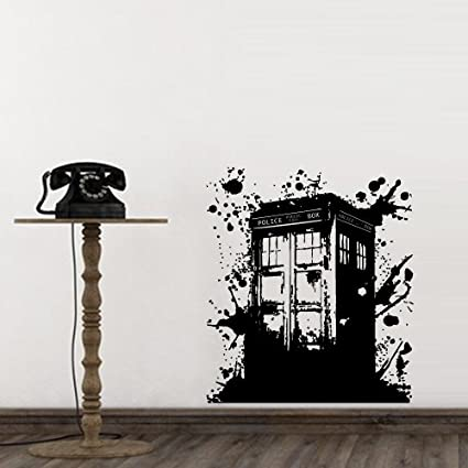 Wall Decal Doctor Who Tardis Mural Sticker Decor Art Police Box Gift Dorm  Bedroom M1623