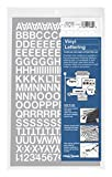 Chartpak Self-Adhesive Vinyl Capital Letters and Numbers, 1/2 Inches High, White, 201 per Pack (01016)