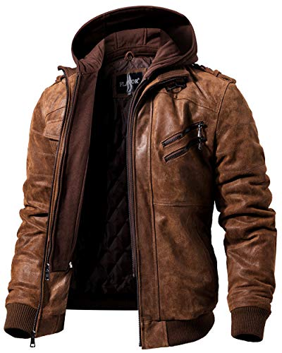FLAVOR Leather Motorcycle Jacket Removable product image