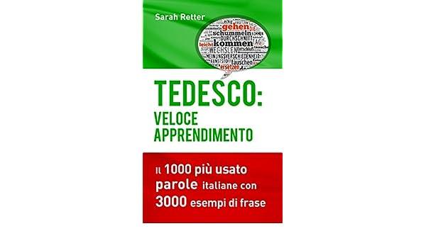 Tedesco Veloce Apprendimento Il 1000 Più Usato Parole Italiane Con