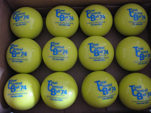 (Total Control Ball TCB 74 Baseball Batting Ball Weighted Training Hitting Batting Aid 12 Ball Pack)