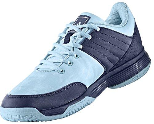 adidas Ligra 5, Zapatos de Voleibol para Mujer, Azul / Plata Azul (Mystery Ink/silver Metallic/footwear White)