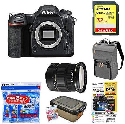 Nikon デジタル一眼レフカメラ D500 ボディ + アクセサリー6点セット(SDカード 32GB、カメラリュック、液晶保護フィルム、ドライボックス、乾燥剤、SIGMA 標準ズームレンズ)