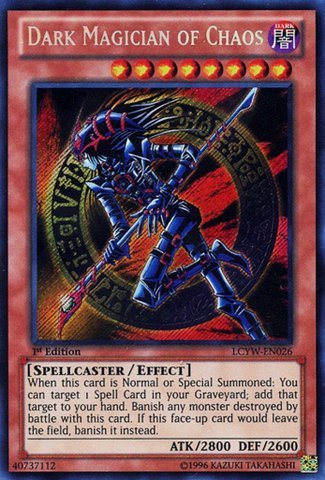 Yu-Gi-Oh! - Dark Magician of Chaos (LCYW-EN026) - Legendary Collection 3: Yugi's World - 1st Edition - Secret Rare by Yu-Gi-Oh! - Chaos Secret Rare Card