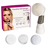 Proactiv Cleansing Brush Kit - 2 Speed Facial Exfoliating Cleansing Brush; Blackhead Exfoliator, Face Cleaner Scrub And Body Skin Cleanser Kit. Electric Spin Scrubber Brushes For Oil Exfoliation. Your Secret To Radiant Soft Skin!