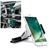 iNYN Mobile Phone CD Slot Car Mount Holder [Aluminum], Cradle Fit for iPhone 7 Plus, 7, 6 Plus, 6S, 6, 5S, 5C, 5, 4S, 4, Galaxy S6, S6 Edge, S5, S4, Note 2, Moto, HTC, Sony, 3.5-5.5 inchs - Silver