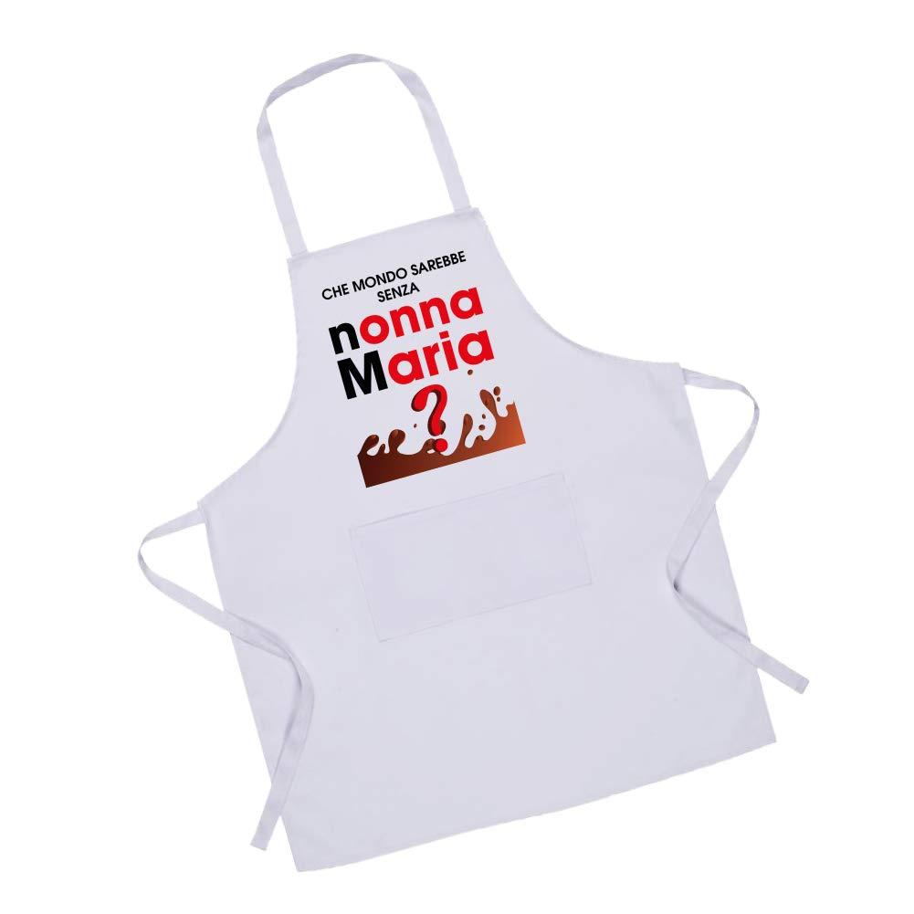 Bianco Altra Marca Grembiule Da Cucina Personalizzato Che Mondo Sarebbe Senza Nonni Grembiuli Tessili Da Cucina