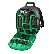 Celendi Waterproof Shockproof Partition Camera Padded Backpack Bag for SLR,DSLR,Mirrorless Camera,Lens,Flash and Other Camera Accessories - Black