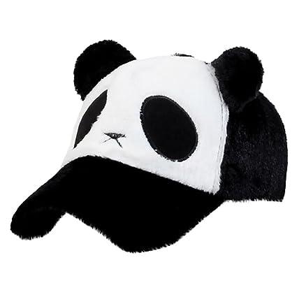 cf4f274089921 Baseball Cap Binmer Women Men Cute Panda Design Adjustable Winter Warm Hat  (Black)