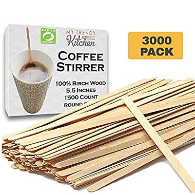 Birchwood Wooden Coffee Stir Sticks