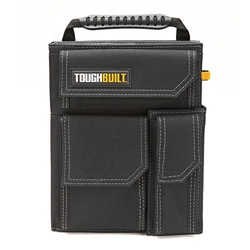 ToughBuilt - Organizer + Grid Notebook (Large) - Quick Access, Note Taking/Note Pad, Shoulder Strap Compatible, 3 External Quick-Access Accessory Pockets, Heavy-duty Construction (TB-56-L-C) NEW