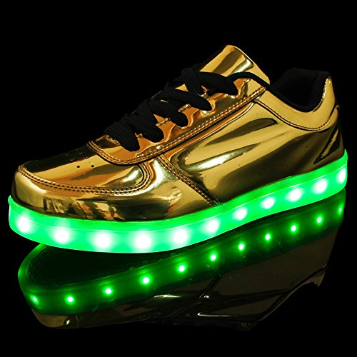 Luci Scarpe Scarpe Luminosi con Oro Le DoGeek Uomo Sportive LED Sneakers Accendono w0tt4zx