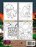 Dinosaurs Activity Book For Kids: Coloring, Dot