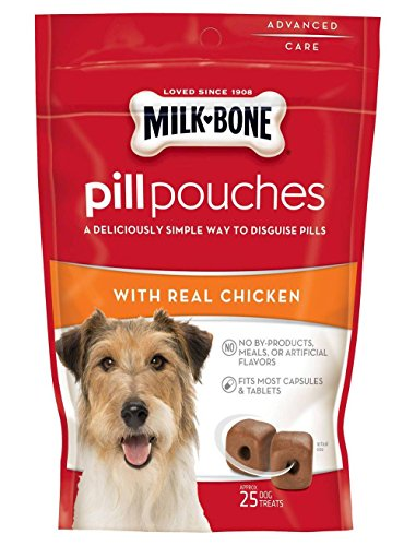 Milk-Bone Pill Pouches with Real Chicken Aprox. 25 Pill Pouches per Bag