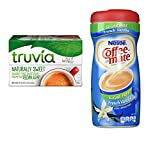 Truvia Sugar Substitute Natural Stevia and Nestle Coffee Mate Sugar Free French Vanilla Coffee Creamer. Convenient One-Stop Shopping For 2 Popular Coffee Enhancers. Vegetarian Friendly.