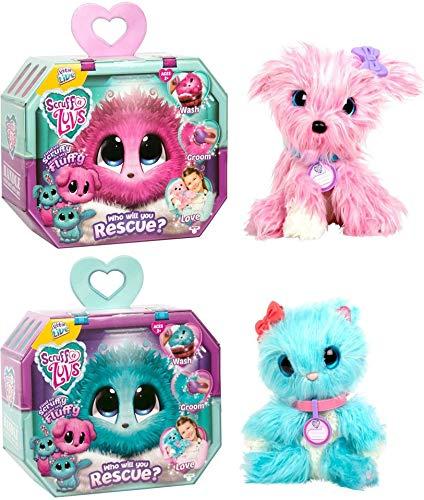 Scruff-a-Luvs Mystery Rescue Pet - Aqua + Pink (2 Pack)