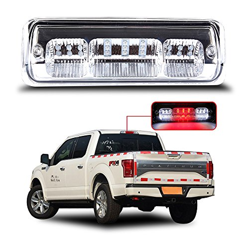 ECCPP LED 3rd High Mount Brake Light Brake Light Carge Light for 2004-2008 Ford F-150 2007-2010 Ford Explorer Sport Trac 2006-2008 Lincoln Mark LT Clear Lens LED Light (Trac Ford 2008 Sport)