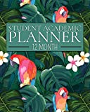 12 Month Student Academic Planner: Island Parrot 12-month study calendar helps elementary, high school and college students prioritize and manage ... project (Flexible Student Academic Planner)