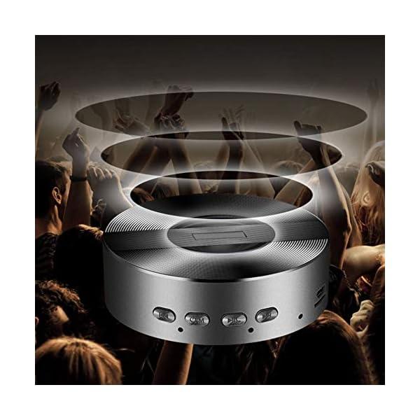 Enceinte Bluetooth sans Fil Portable Mini A5 Full HD Bluetooth sans Fil pour Lecteur MP3, téléphone Portable, Tablette, Bouton Tactile Free Size Rose Gold 6