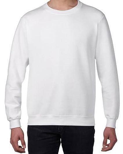 8e81103188d Bigood Sweat-Shirt Homme Pull Coton Tops à Manches Longues Col Rond sans  Capuche Sport
