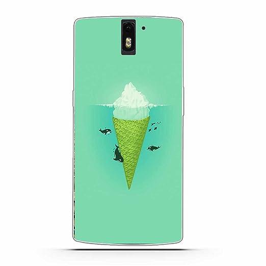 5 opinioni per OnePlus One (1+1) Cover, Fubaoda Alta qualità cartone animato ragazza gelato La