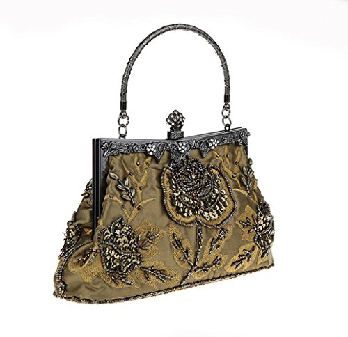 Women MineGreen Bags For Beaded Purse Clutch Style Evening Party Handbag MIMI Vintage Sequined KING And Wedding Manual xTwqgUg0a