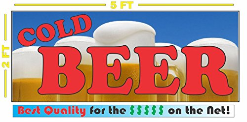 COLD BEER Banner Sign