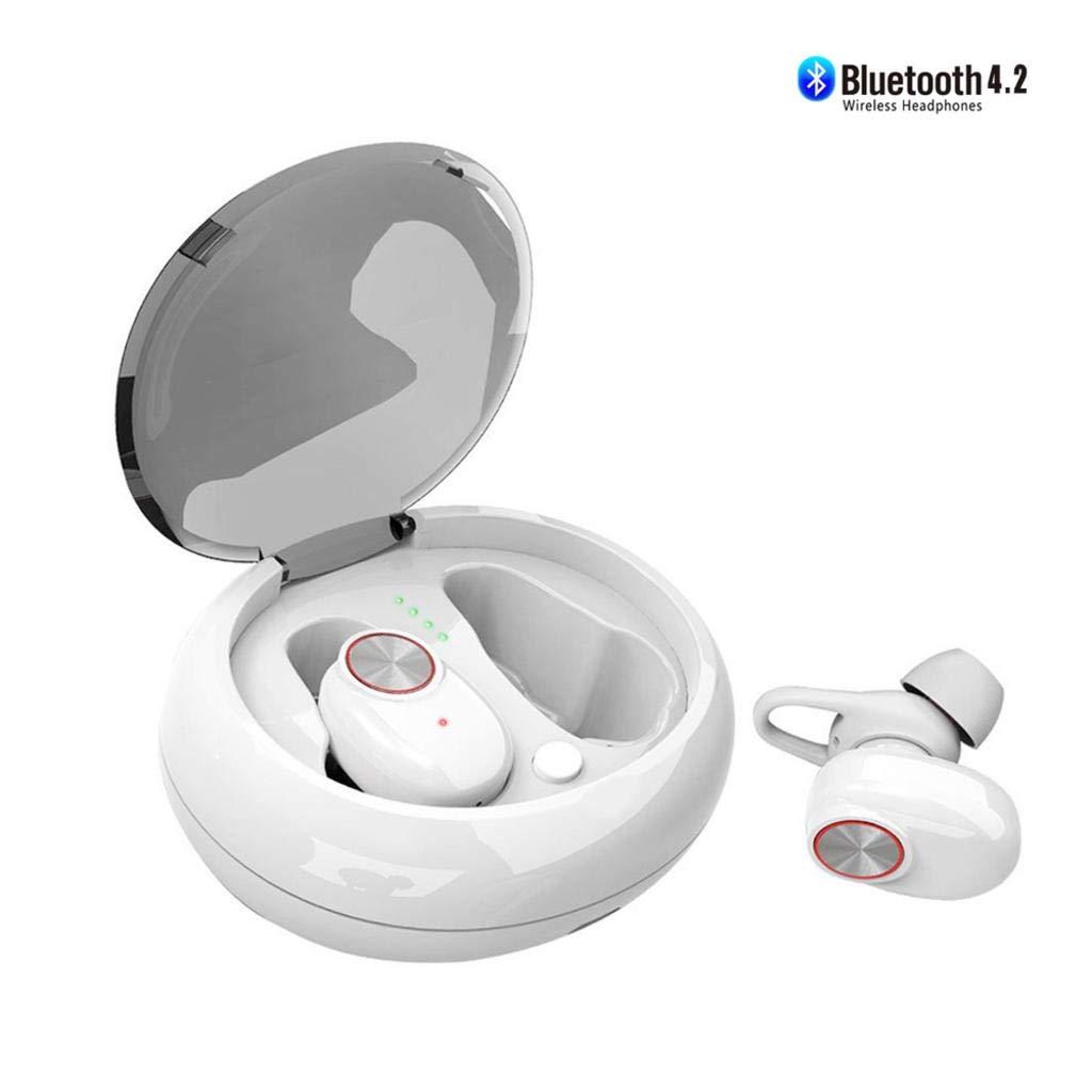 正規品! ワイヤレスイヤホン Bluetooth、Bluetoothヘッドフォン B07H1MRGZ2、インイヤースポーツヘッドセット、防汗ノイズキャンセリングマイク-ポータブル充電ケース Bluetooth 4.2 4.2 ホワイト B07H1MRGZ2, ジャパンメディアセールス:3a14494a --- nicolasalvioli.com