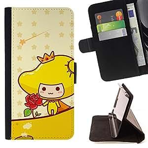 For Apple Iphone 5C - Cute Princess Rose /Funda de piel cubierta de la carpeta Foilo con cierre magn???¡¯????tico/ - Super Marley Shop -