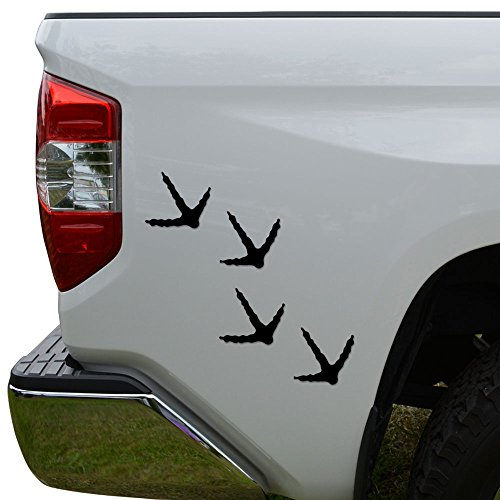 Rosie Decals Wild Turkey Tracks Prints Die Cut Vinyl Decal Sticker For Car Truck Motorcycle Window Bumper Wall Decor Size- [6 inch/15 cm] Tall Color- Matte White