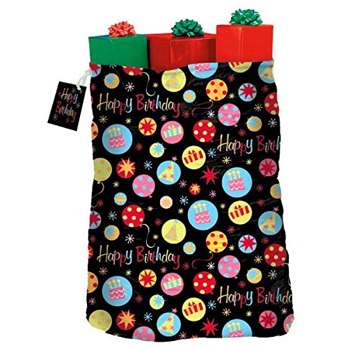 Amscan Festive Neon Dots Giant Gift Sack Party Supply , Mult