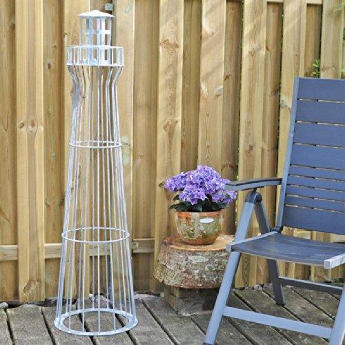 135cm H/öhe VOSS.garden Leuchtturm 1,35m Vollverzinkt Kunstwerk! Garten-Dekoration,verzinkt Gambione